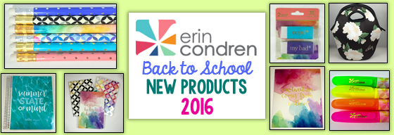 New Erin Condren Back to School Products 2016