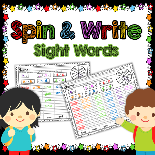 Sight Word Spin and Write